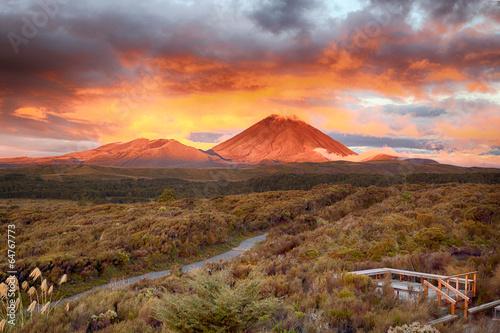 Sunset at Mt Ngauruho, New Zealand