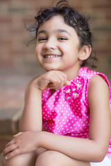 Smiling Portrait of a Cute Little Girl