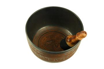 metal Tibetan singing bowl