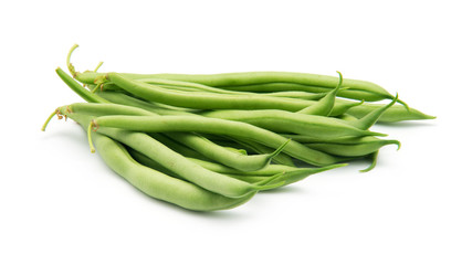 Few green french beans