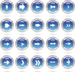 Blue round arrow icons