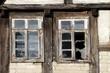 Fenster eines Fachwerkhauses in Alverdissen