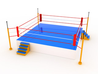 Empty boxing ring  #3