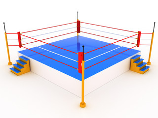 Empty boxing ring #1