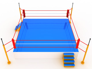 Empty boxing ring 3