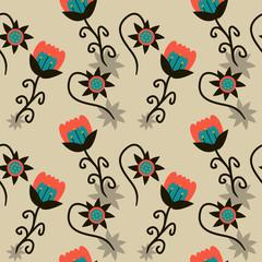 Wildlife Flowers Background