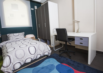 Childrens bedroom in show home