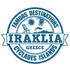 Iraklia, famous destinations stamp