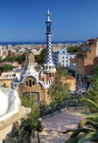 Park Guell in Barcelona (Catalunya, Spain) poster