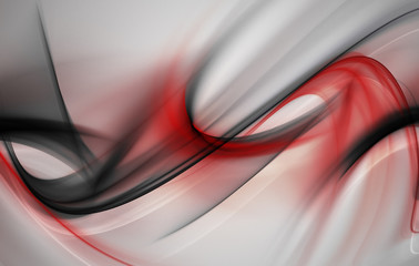 Creative Red Wave For Your Art Design
