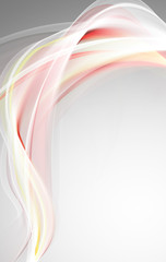 Elegant bright pink waves for your art design