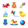 Baby Toys Icons Set