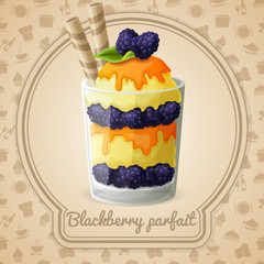 Blackberry parfait badge