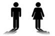 canvas print picture - Mann / Frau - male / female