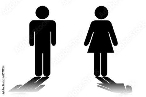 canvas print picture Mann / Frau - male / female