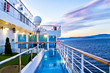 Scenic view of cruise ship deck and ocean - 64772168