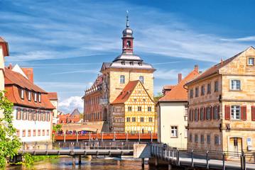 Altes Rathaus und Mühlenviertel im fränkschen Bamberg