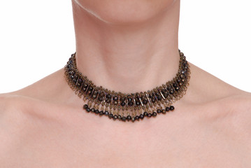 trendy brown  necklace