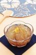 Gelidium jelly, Tokoroten with japanese fan