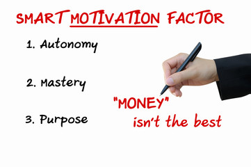 Smart Motivation Factor of Business Concept
