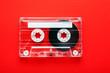 Leinwanddruck Bild - An old styled cassette