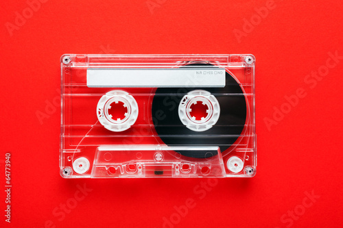 Leinwanddruck Bild An old styled cassette