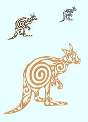 Kangaroo ornate