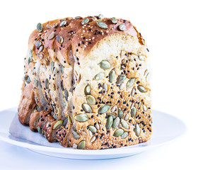 Bread with sun flower seeds and seasame