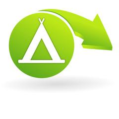 camping sur web symbole vert