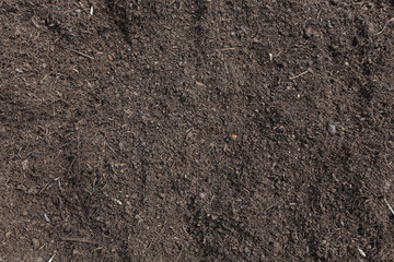 Soil surface background, manure compost prepared for a farmland