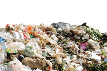 Pile of domestic garbage, pollution of environment