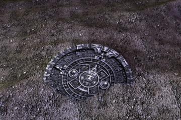 Stone Aztec Disc