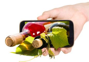 Wine bottles through mobile phone