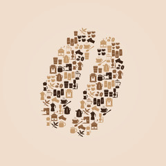 coffee icons like coffee bean eps10