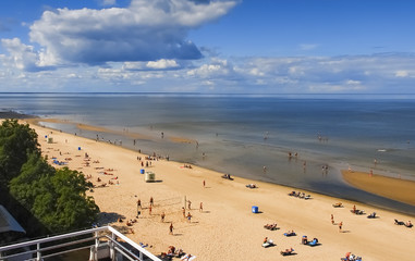 Baltic beach in Jurmala - famous resort in Latvia