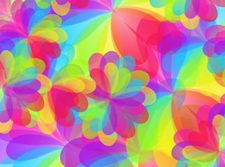 Colorful floral texture