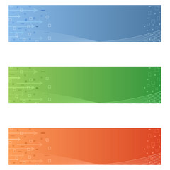 Futuristic banners
