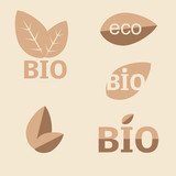 Ecology, organic icon set. Eco-icons poster