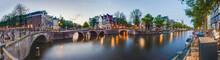 "Постер, картина, фотообои ""Keizersgracht canal in Amsterdam, Netherlands."""