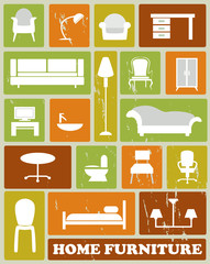 white furniture icons