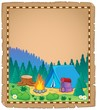 Parchment with campsite theme 1