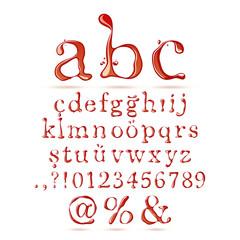Ketchup alphabet lower case