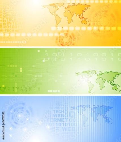 Set of vector tech banners