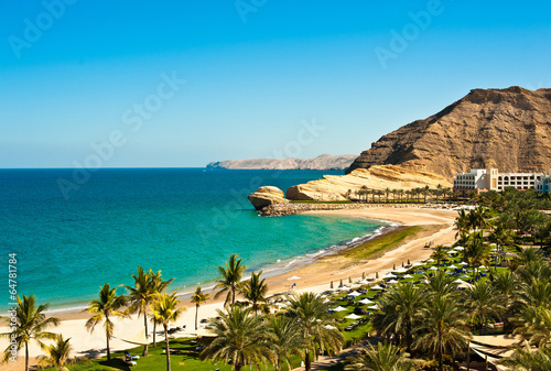canvas print picture oman coast landscape