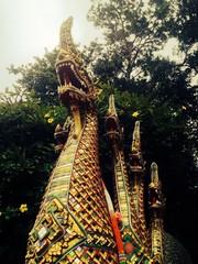 Thai style serpent stone