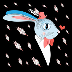 love portrait hare