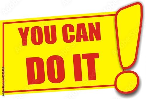 étiquette you can do it
