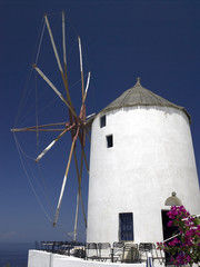 Windmill - Island of Santorini - Greece