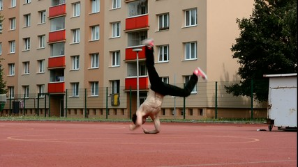 Breakdancer in the street