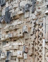 mayan temple detail in Uxmal